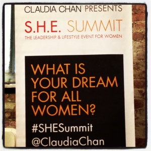 Claudia Chan SHE Summit 2013 Women sign