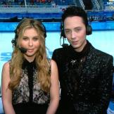 Tara Lipinski and Johnny Weir