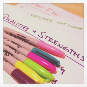 Writing strengths and Sharpies