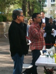 Deepak & Gotham Chopra in Union Square, NYC