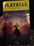 Anastasia Broadway Playbill