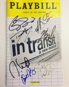 In Transit Broadway Playbill signed
