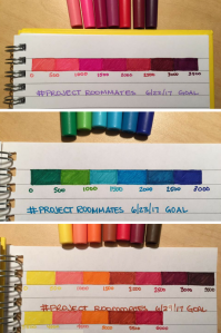 Project Roommates word count progress bars
