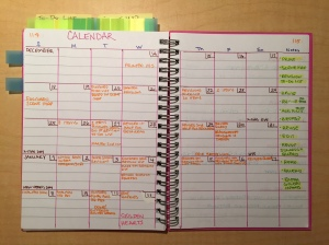bullet journal book revision calendar