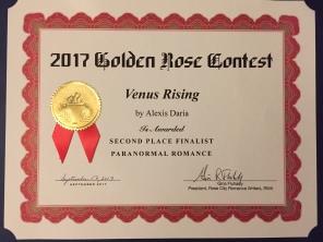 Venus Rising, 2017 Golden Rose 2nd Place Winner