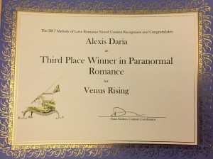 2017 Melody of Love Third Place Venus Rising by Alexis Daria