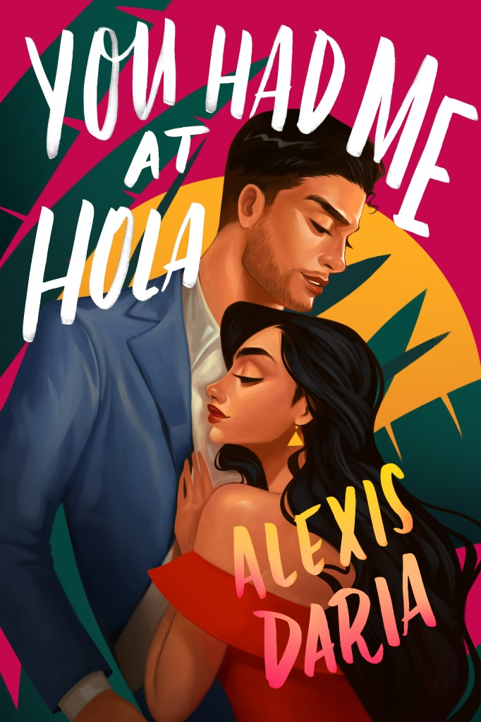 Illustrated book cover with a man and a woman embracing
